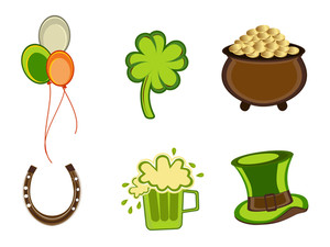 St.patrick's Day Symbols.vector Illustration.