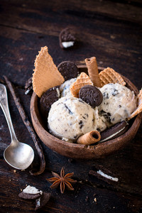 Stracciatella Ice Cream In Bowl