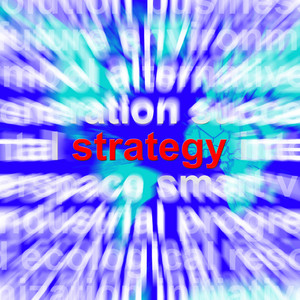 Strategy Word Showing Planning And Vision To Acheive Goals