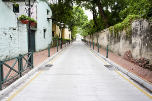 Street in residential area of Macau