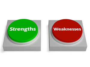 Strengths Weaknesses Buttons Shows Weak Or Strong