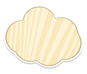 Striped Cloud Banner