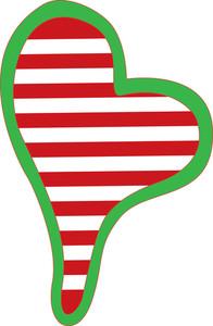 Striped Heart Frame