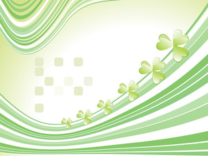 Stripes Background With Shamrock