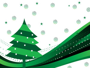 Stripes Background With Xmas Tree