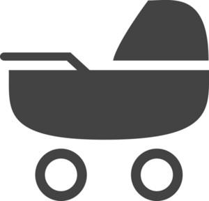 Stroller Glyph Icon