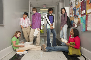 Students in hallway