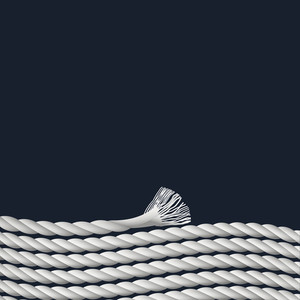 Stylish Background With Marine Rope