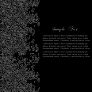 Stylish Black Abstract Background For Design