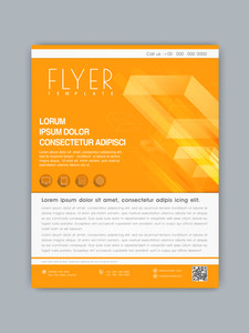 Stylish business flyer banner or tamplate design in orange and white color for your company.