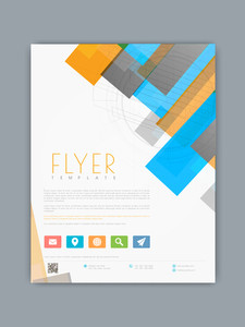 Stylish business flyer banner or template with colorful abstract and hi tech design.