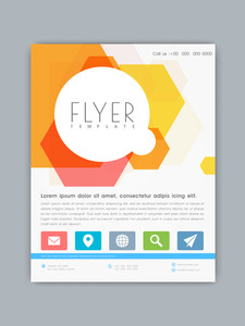 Stylish business flyer template or banner with colorful abstract design for your company.