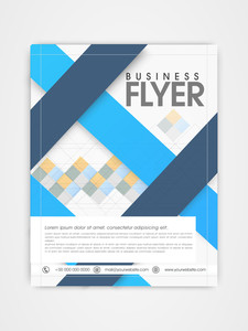 Stylish business flyer template or brochure design for corporate sector.