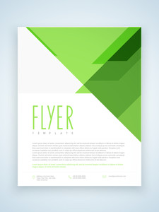 Stylish business flyer template or brochure layout with abstract design.