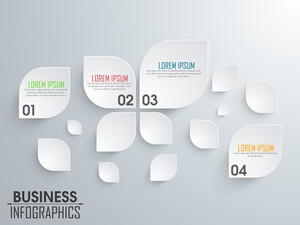 Stylish business infographic elements in leaf shape for your print