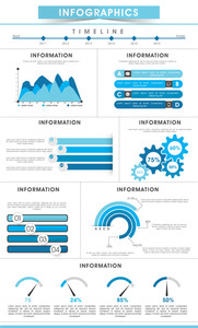 Stylish business infographics template including various elements for corporate sector.