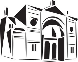 Stylish Church Of Jewish Religion.