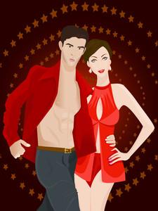 Stylish Couple Of Models