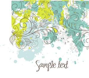 Stylish Floral Background-