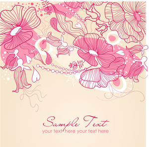 Stylish Floral Background-