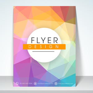Stylish flyer banner or template with colorful abstract design for your business.