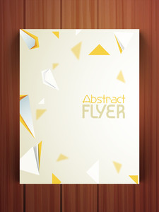 Stylish flyer banner or template with creative abstract design for your business.