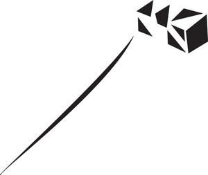 Stylish Flying Kite Of Paper Art.
