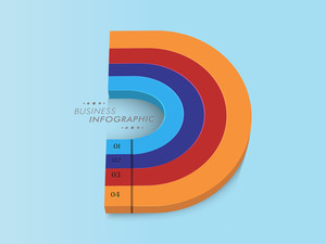 Stylish infographic design for your business presentation with number on grey background.