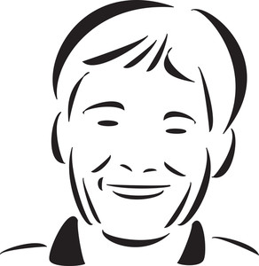 Stylish Jewish Boy's Face In Smiling Way.