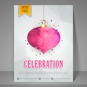Stylish night party celebration flyer banner or template.