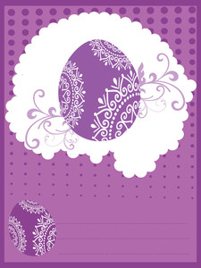 Stylish Pattern Card For Easter