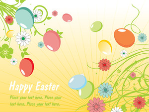 Stylish Pattern Easter Card