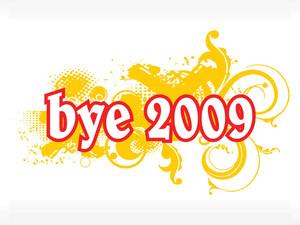 Stylish Pattern Illustration For Bye 2009