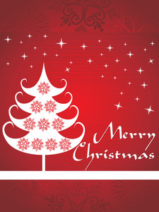 Stylish Pattern Merry Christmas Background