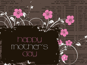 Stylish  Pattern Mother Day Background
