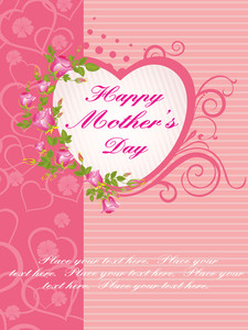 Stylish Pattern Mother Day Card