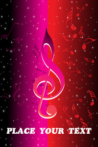 Stylish Pattern Musical Notes Background