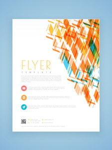 Stylish professional business flyer template or brochure design.