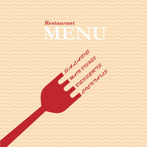 Stylish Restaurant Menu Card