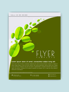 Stylish Save Nature flyer banner or template with fresh green leaves.