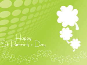 Stylish Shamrock Background 17 March