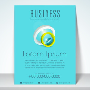 Stylish template brochuer and flyer for business purpose withaddress bar and mailer.