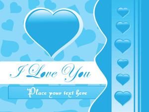 Stylish Vector Love Blue Illustration