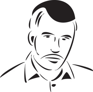 Stylish Young Jewish Man's Face.