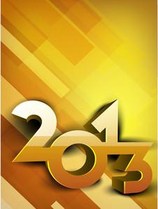 Stylized 2013 Happy New Year Background