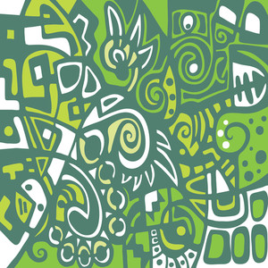 Stylized Abstraction In Green