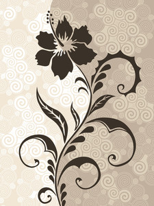 Stylized Background With Floral Pattern