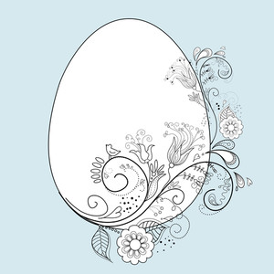 Stylized Easter Egg-