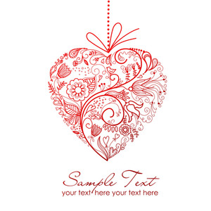 Stylized Red Heart-