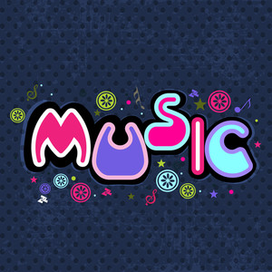 Stylized Retro Music Background